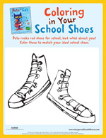 Pete the Cat Rocking In My School Shoes: Coloring