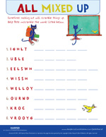 Pete the Cat The Wheels on the Bus: Word Scramble