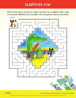 Pete the Cat and the Bedtime Blues: Maze