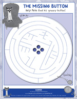 Pete the Cat and His Four Groovy Buttons: Maze