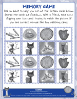 Pete the Cat and His Four Groovy Buttons: Memory Game