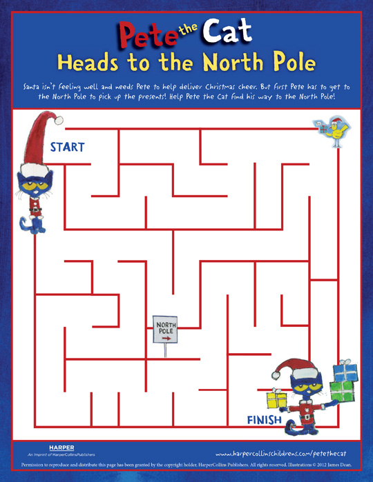 Pete the Cat Saves Christmas: Maze