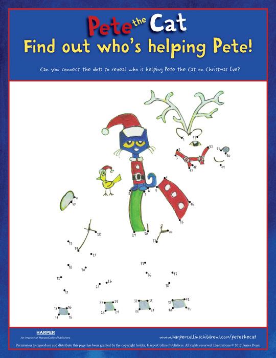 Pete the Cat Saves Christmas: Connect the Dots