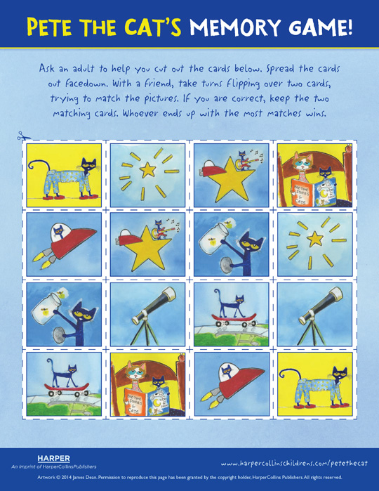 Pete the Cat Twinkle, Twinkle, Little Star: Memory Game