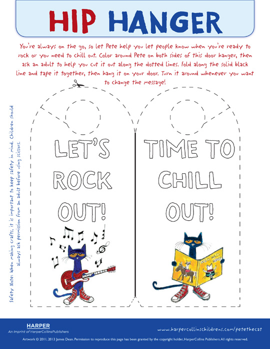 pete the cat the wheels on the bus door hanger