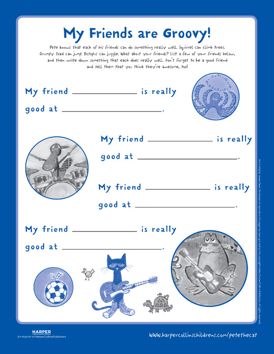 Pete the Cat and the New Guy: Fill In the Blank